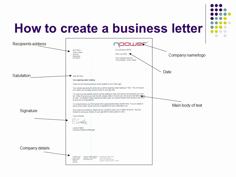 Business Letter Template with Logo Elegant Business Documents Business Letters Ppt Video Online