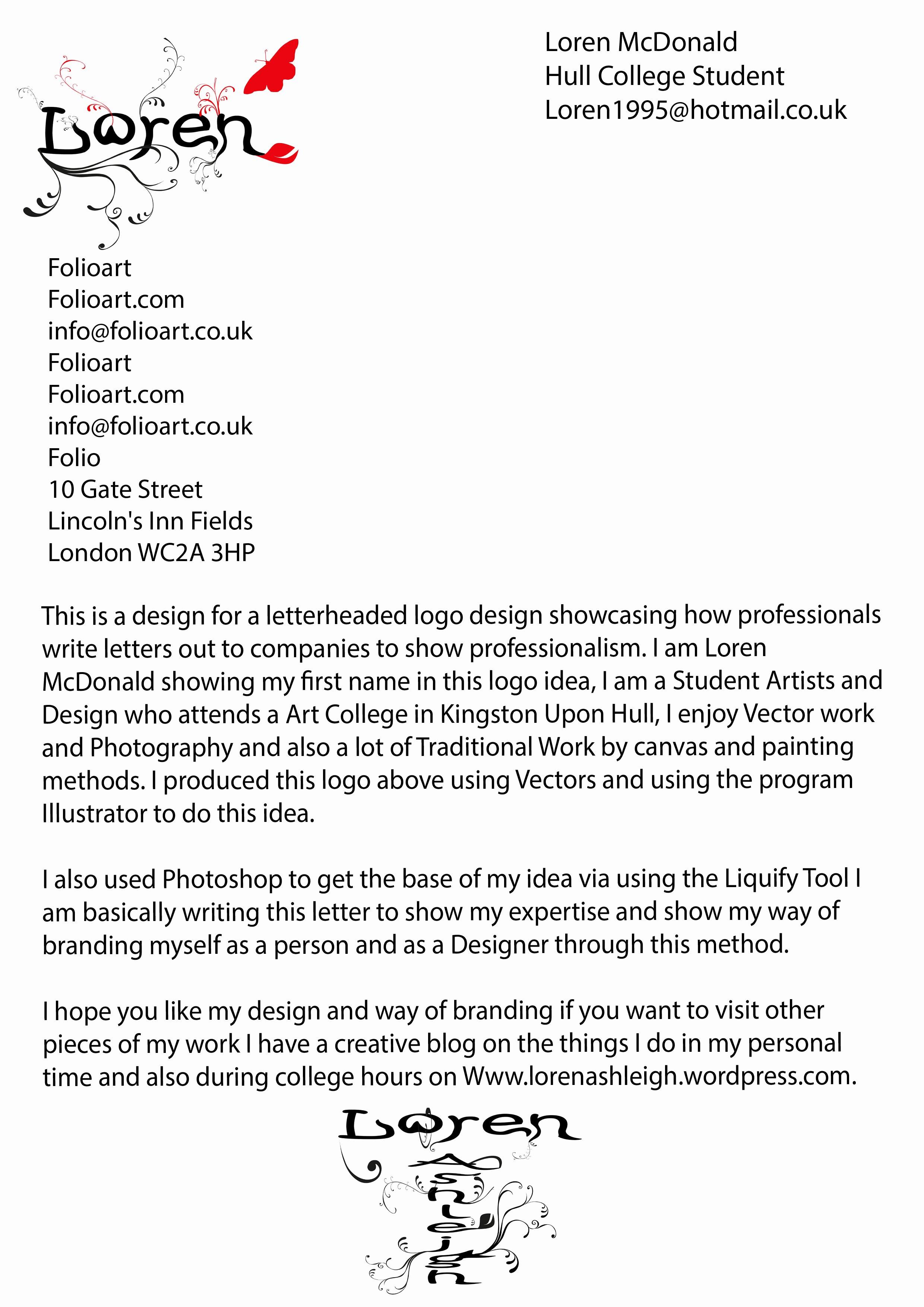 Business Letter Template with Logo Elegant Letterheaded Logo Designs