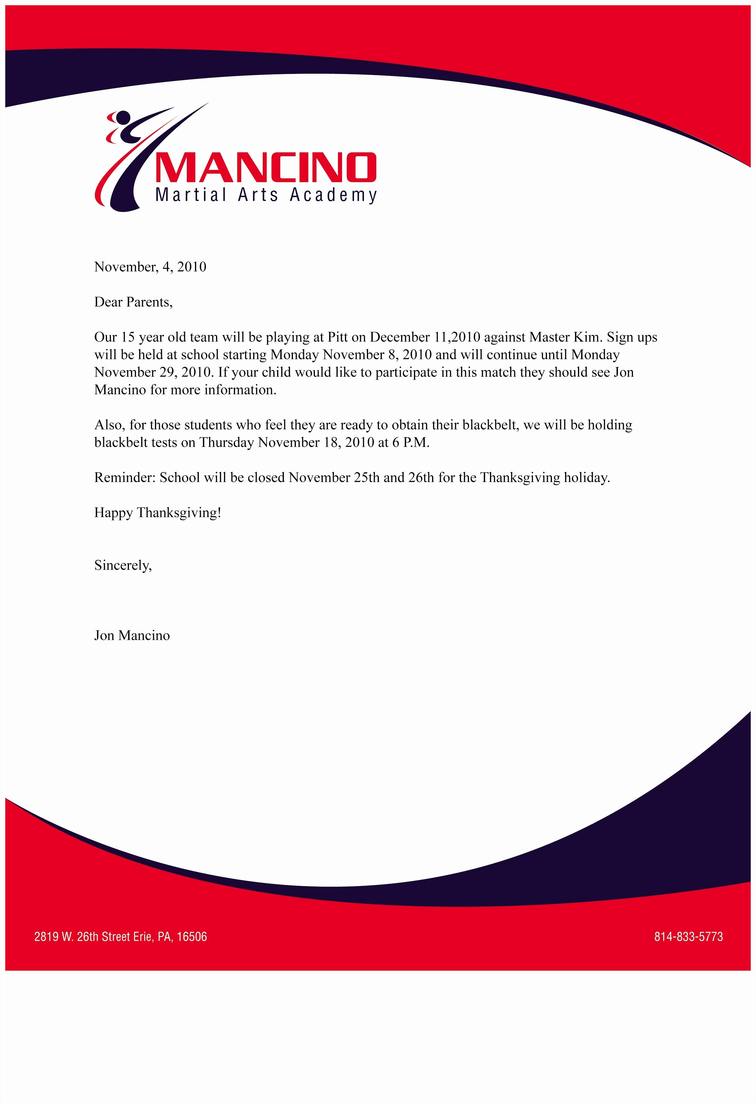 Business Letter Template with Logo Fresh Business Letterhead format Example Mughals