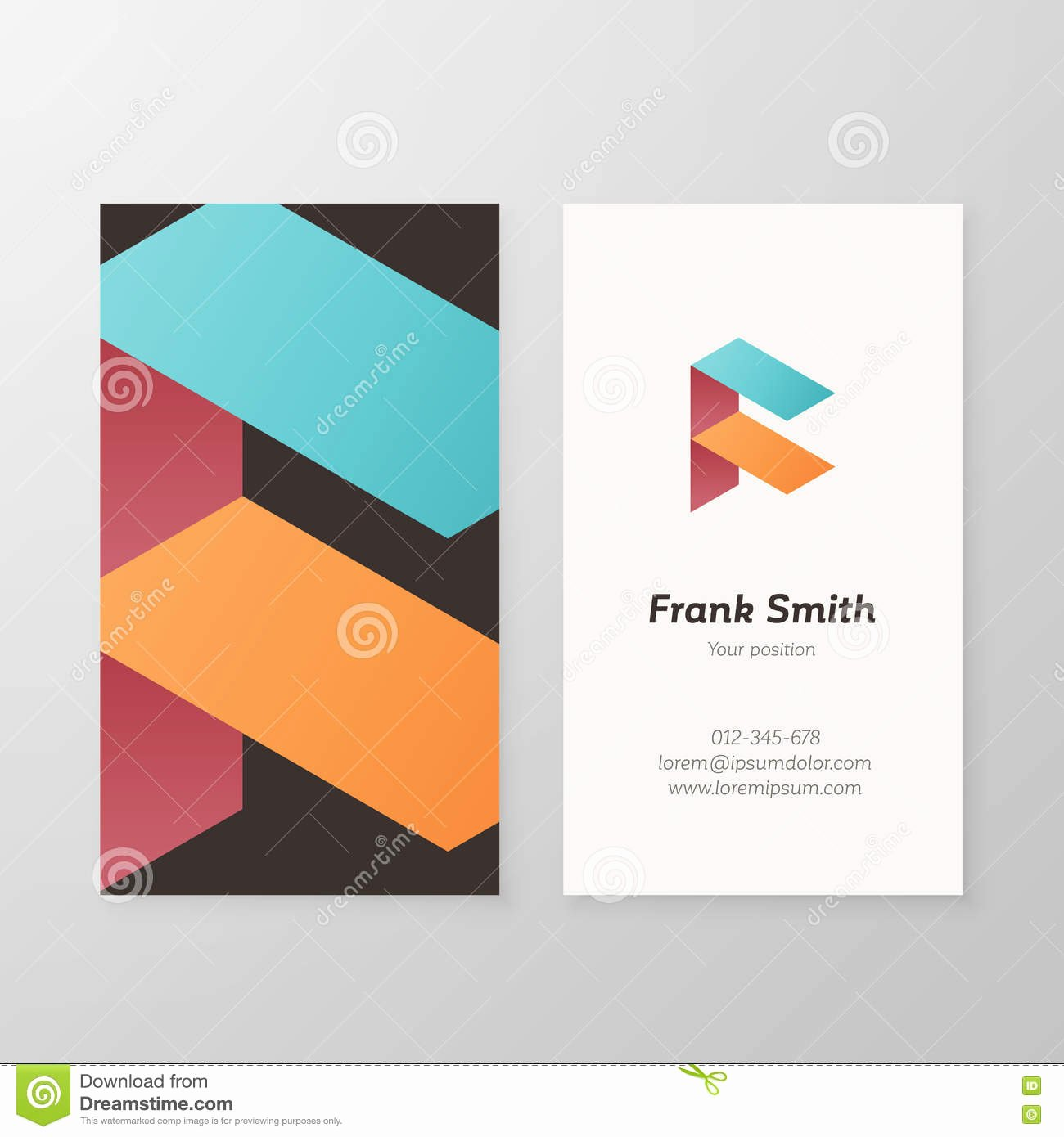 Business Letter Template with Logo Lovely F Pink Vintage Retro Letter Pany Logo Icon Design