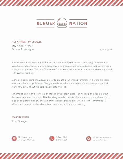 Business Letter Template with Logo New Word Letterhead Template Free format Line Templates