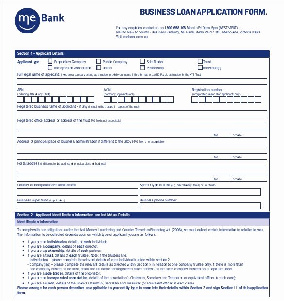 Business Loan Application Template Best Of 15 Application Templates Free Sample Example format