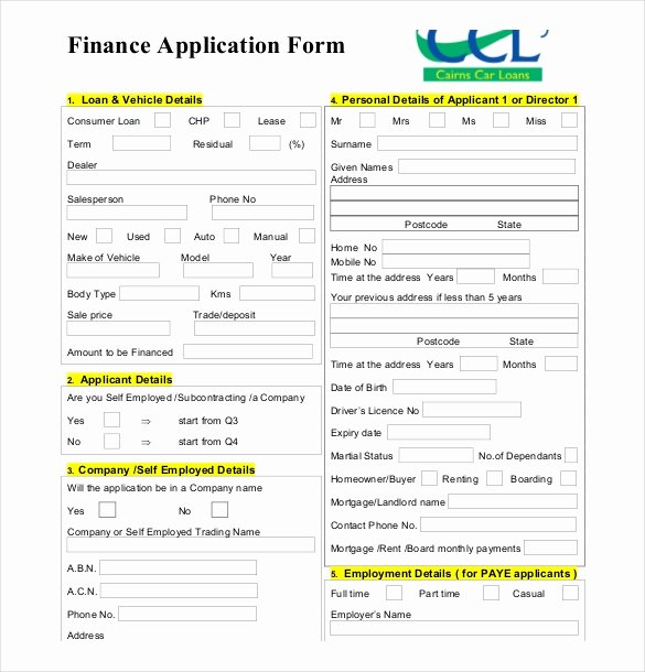 Business Loan Application Template Unique 10 Loan Application Templates Pdf Doc