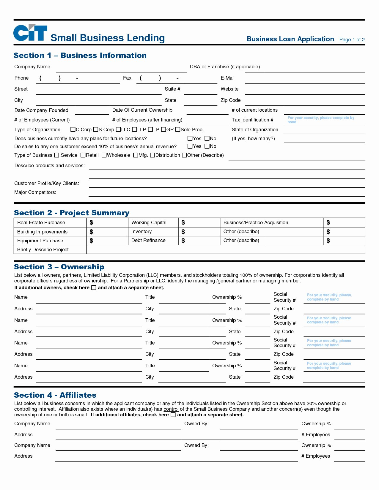 Business Loan Application Template Unique Business Application form Page 2 Register Business Address