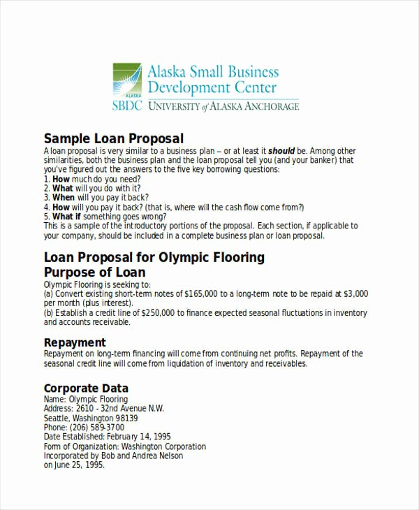 Business Loan Proposal Template Fresh Bank Loan Proposal Template then 31 Business Proposal