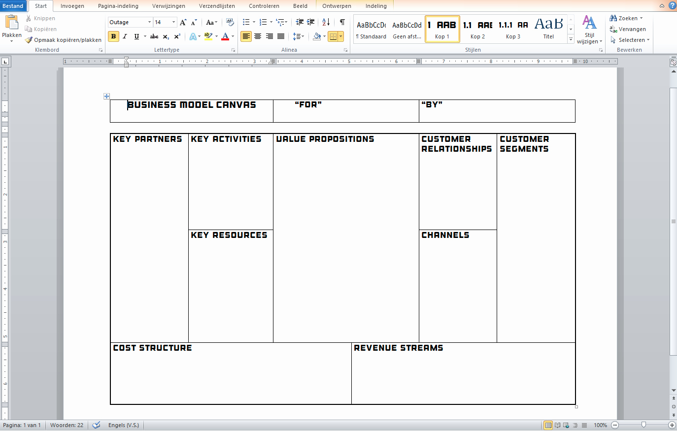 Business Model Canvas Template Excel Beautiful Business Model Canvas Template