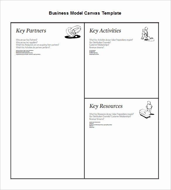 Business Model Canvas Template Excel Elegant 20 Business Model Canvas Template Pdf Doc Ppt