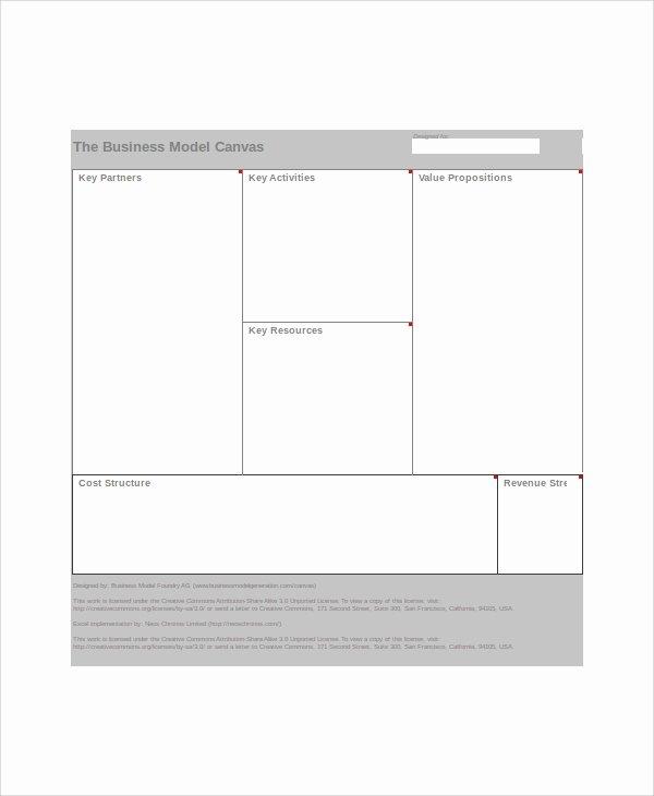 Business Model Canvas Template Excel Elegant Excel Business Template 5 Free Excel Documents Download