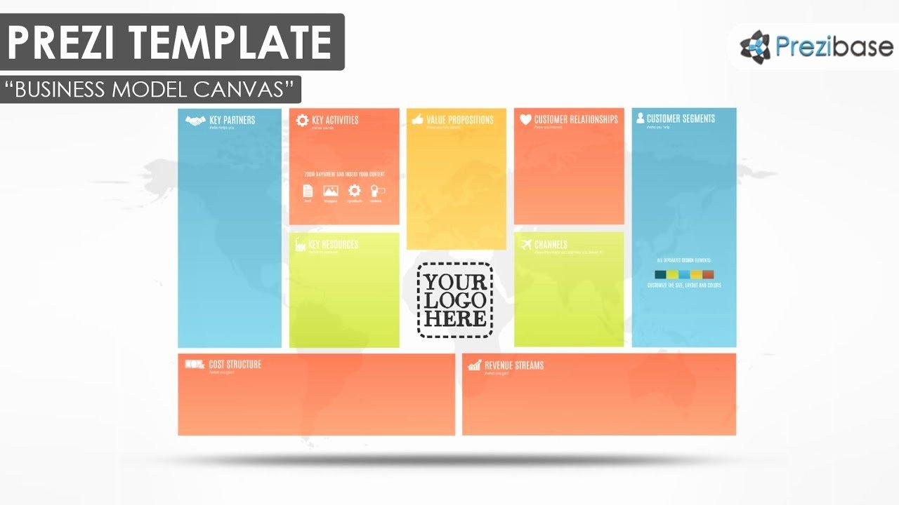 Business Model Canvas Template Ppt Unique Business Model Canvas Prezi Template