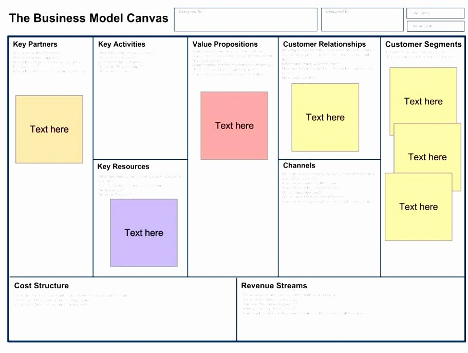 Business Model Canvas Template Word Luxury Business Model Canvas Template – 20 Free Word Excel Pdf