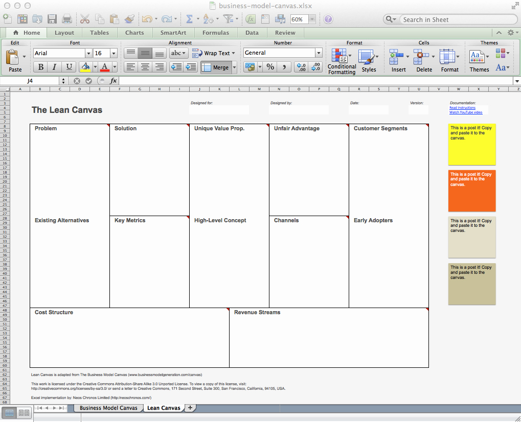 Business Model Template Word Fresh Business Model Canvas and Lean Canvas Templates