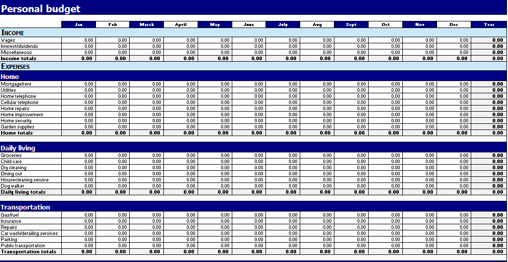 Business Monthly Budget Template Elegant Free Printable Monthly Bud Worksheets