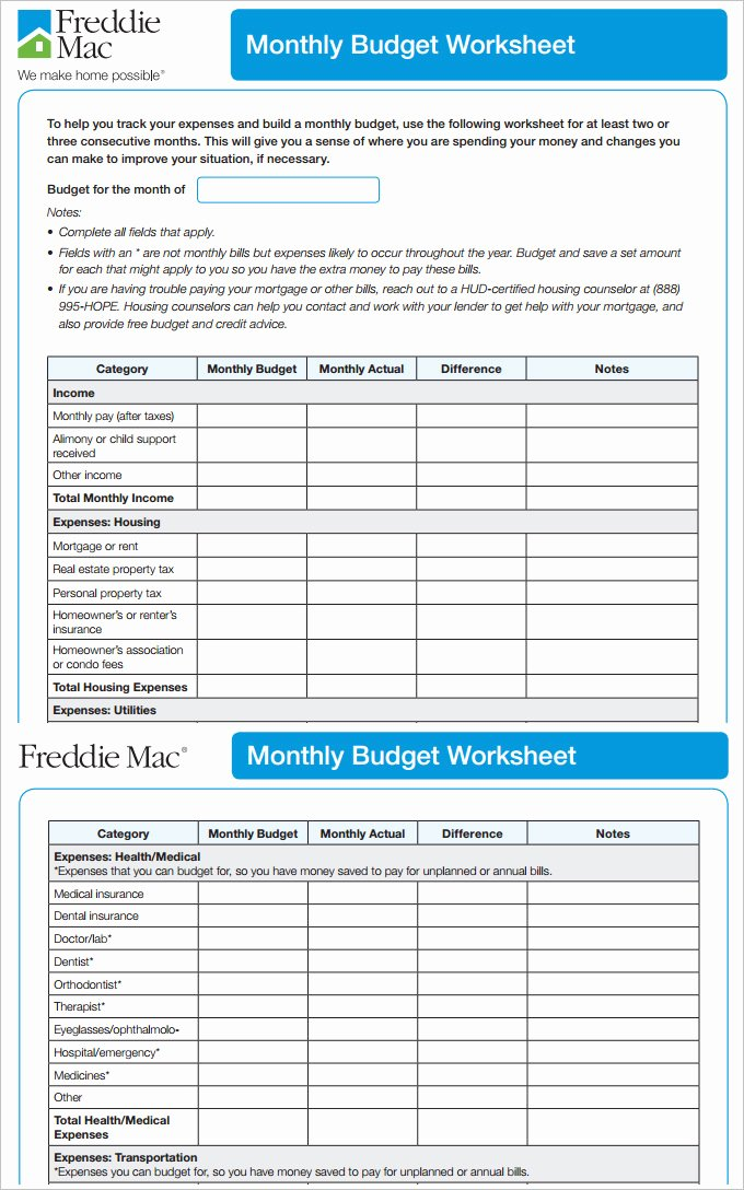 Business Monthly Budget Template New 7 Monthly Bud Template Free Word Excel Pdf format