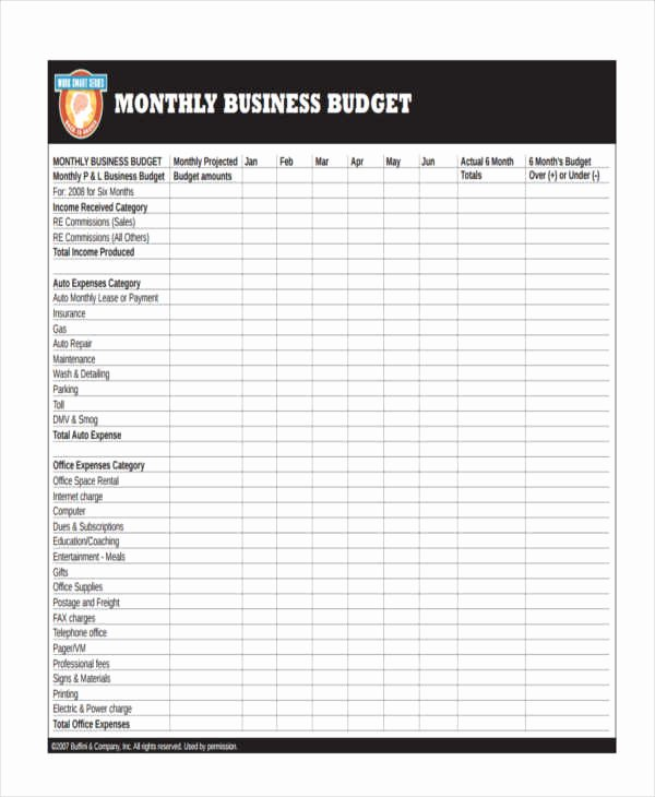 Business Monthly Budget Template Unique 26 Bud Templates In Pdf