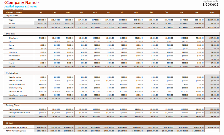 Business Monthly Budget Template Unique Business Monthly Bud Template