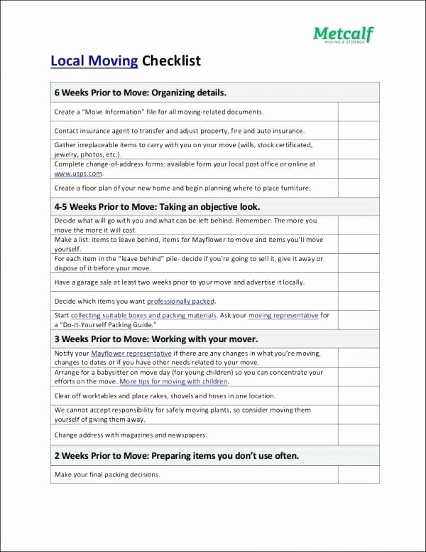 Business Moving Checklist Template Lovely Moving Template Checklists Business Relocation Checklist