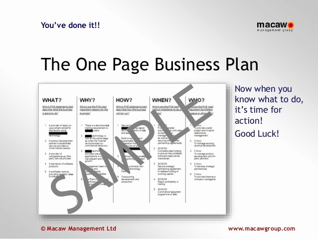 Business One Sheet Template Elegant E Page Business Plan