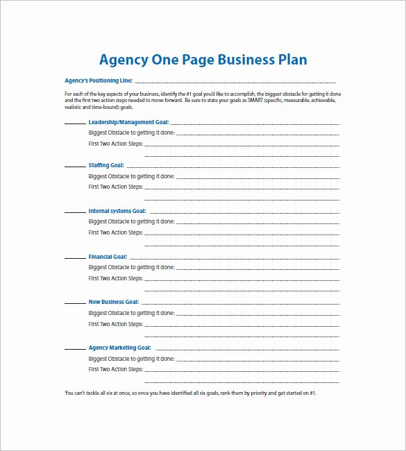 Business One Sheet Template Elegant the One Page Business Plan Template One Page Business Plan