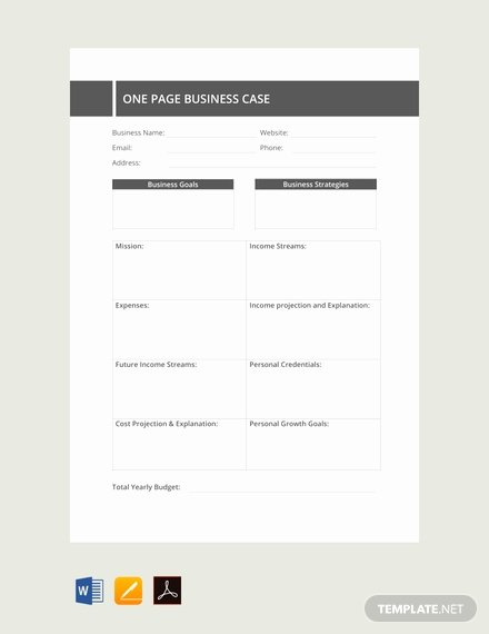 Business One Sheet Template Fresh Free E Page Business Case Template Download 73 Notes