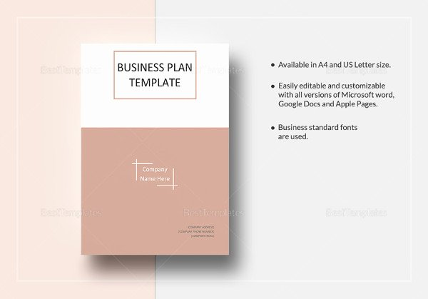 Business One Sheet Template Lovely E Page Business Plan Template 14 Free Word Pdf