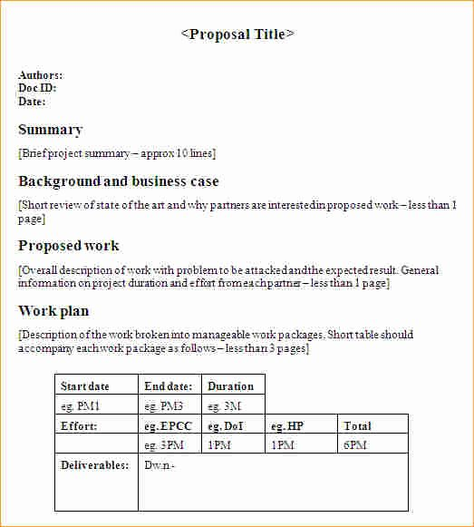 Business One Sheet Template Luxury 1 Page Business Proposal Business Proposal Templated