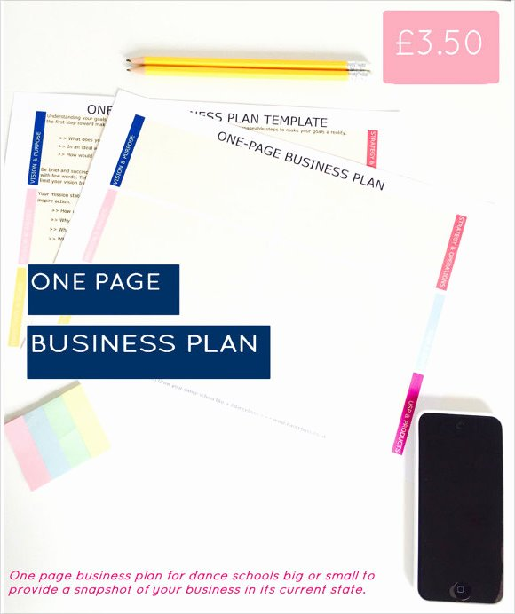Business One Sheet Template New 21 Simple Business Plan Templates