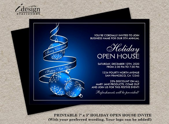 Business Open House Invitation Template Beautiful 23 Business Invitation Templates – Free Sample Example