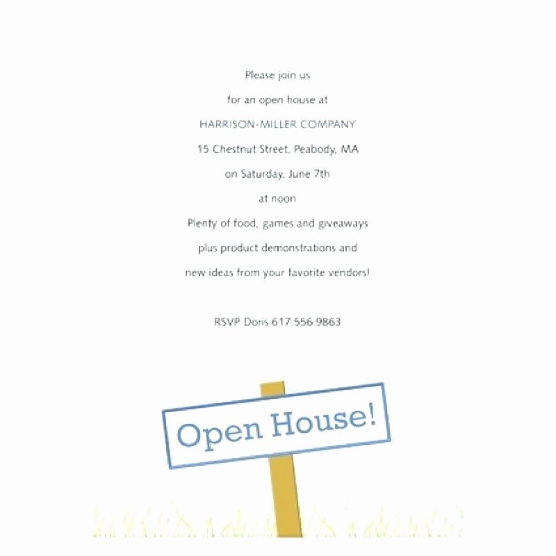 Business Open House Invitation Template Elegant Open House Invitation Wording Open House Invitation
