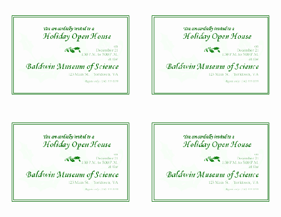 Business Open House Invitation Template Lovely Download Free Printable Invitations Of Holiday Open House