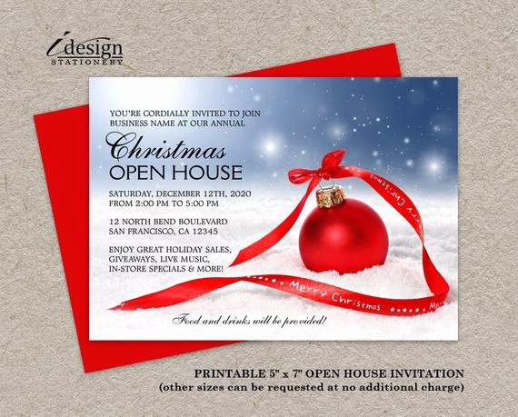 Business Open House Invitation Template Unique Items Similar to Festive Business Holiday Open House