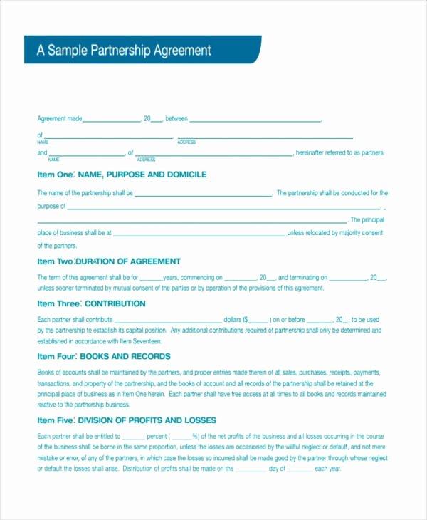 Business Partnership Separation Agreement Template Awesome 12 Fresh Business Partnership Separation Agreement