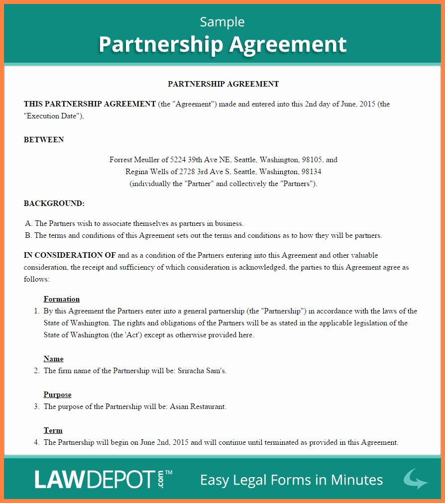 Business Partnership Separation Agreement Template New 5 Mon Law Separation Agreement Template Bc