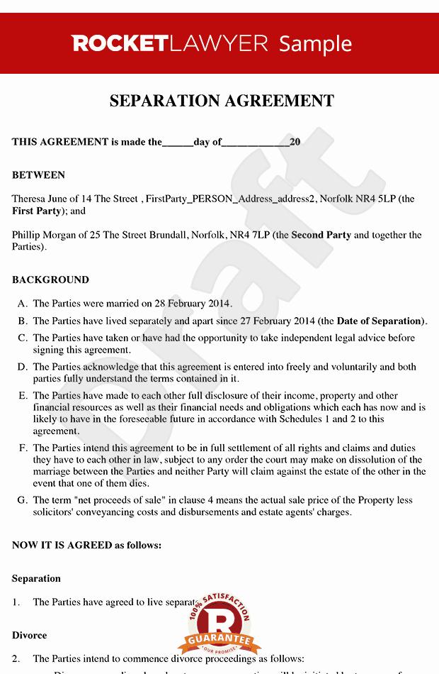 Business Partnership Separation Agreement Template New Free Separation Agreement Template Line