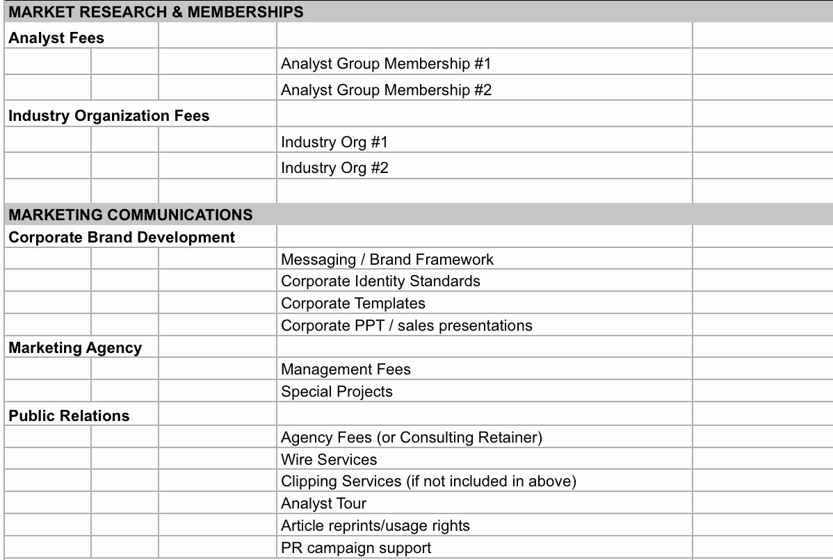 business bud spreadsheet templates