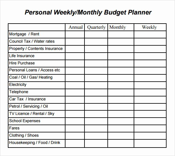 Business Plan Budget Template Fresh 9 Sample Bud Planner Templates to Download