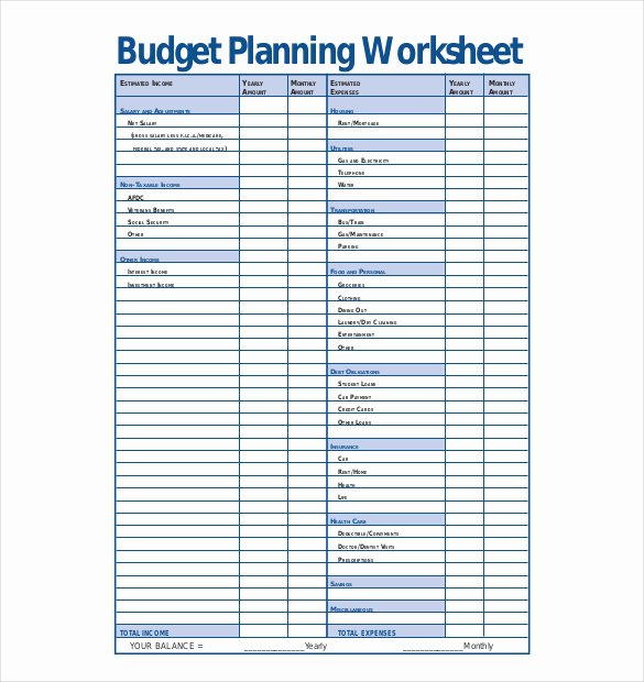Business Plan Budget Template New 13 Bud Planner Templates Free Sample Example