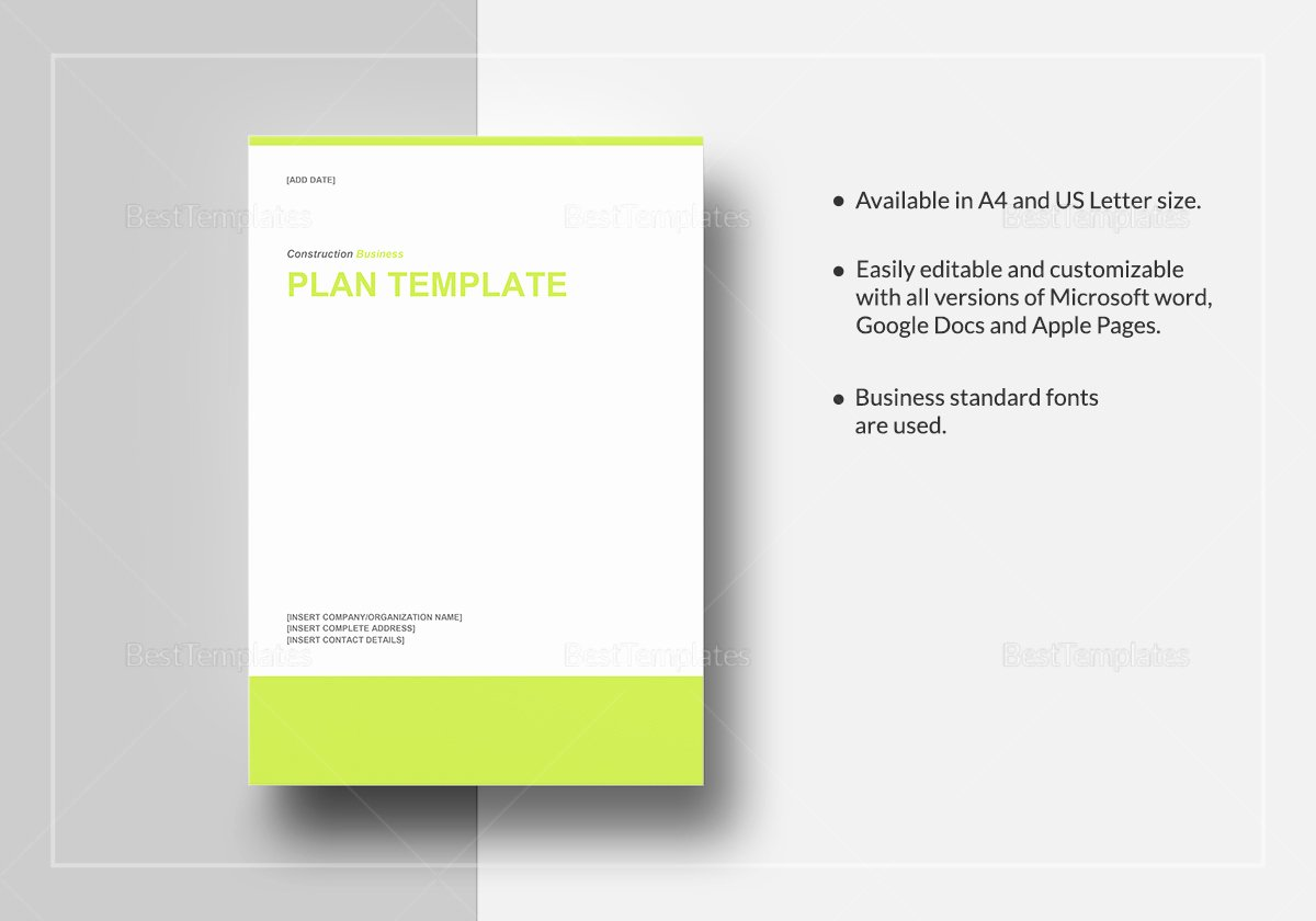 Business Plan Template Pages Mac Best Of Construction Business Plan Template In Word Google Docs