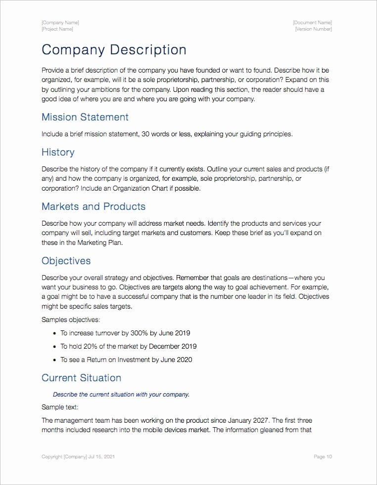 Business Plan Template Pages Mac Unique Business Plan Template Apple Iwork Pages and Numbers
