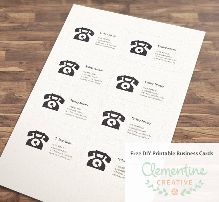Business Postcard Template Free Beautiful Free Diy Printable Business Card Template
