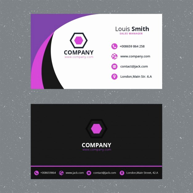 Business Postcard Template Free Beautiful Purple Business Card Template Psd File