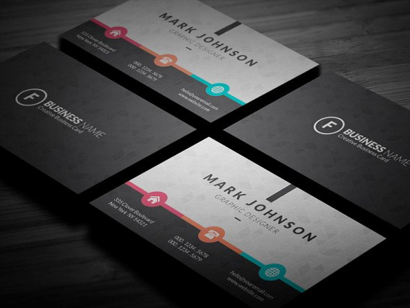Business Postcard Template Free Best Of Colorful Metro Style Business Card Template Free