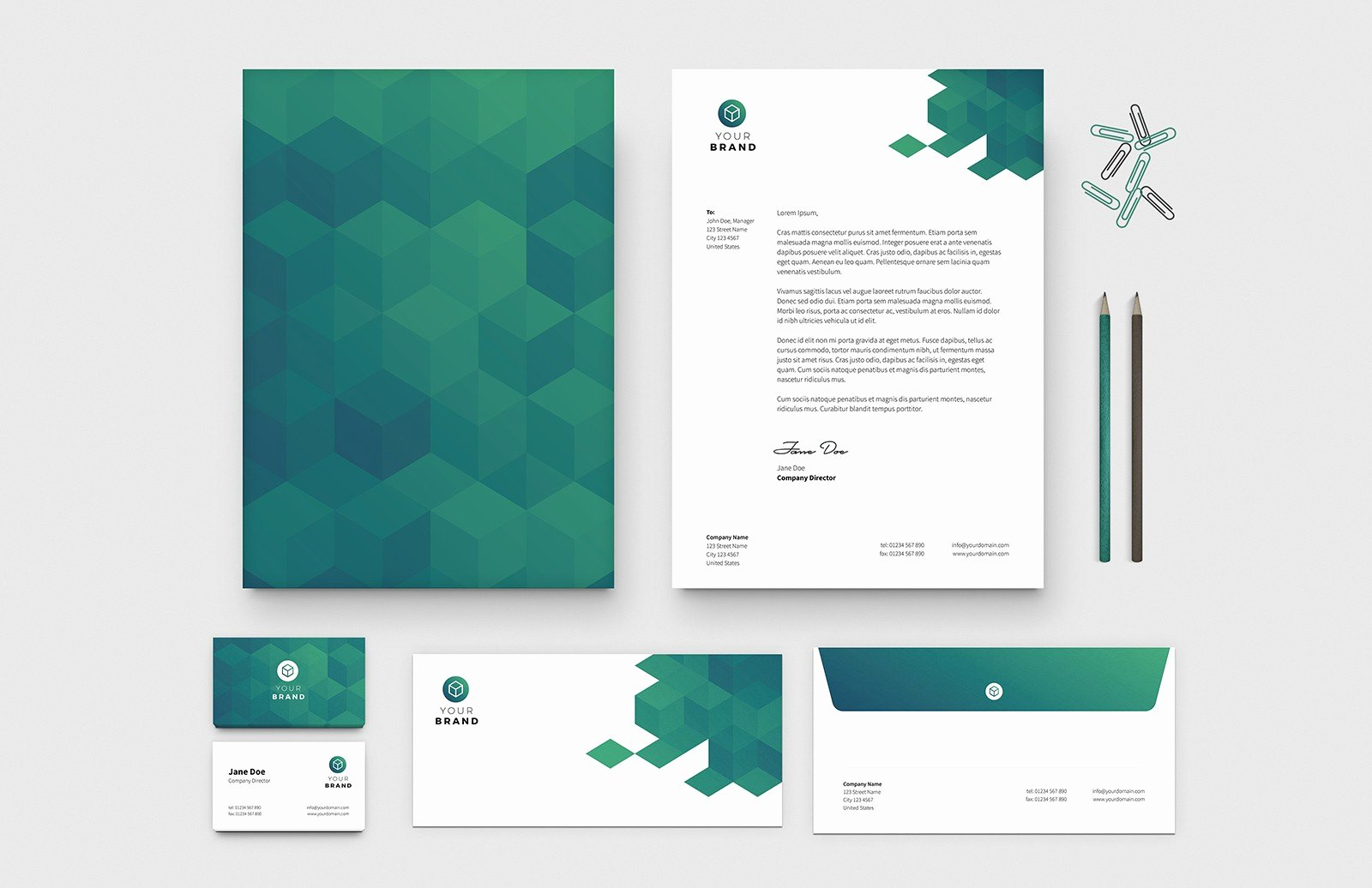 Business Postcard Template Free Fresh Free Business Card & Letterhead Templates — Medialoot
