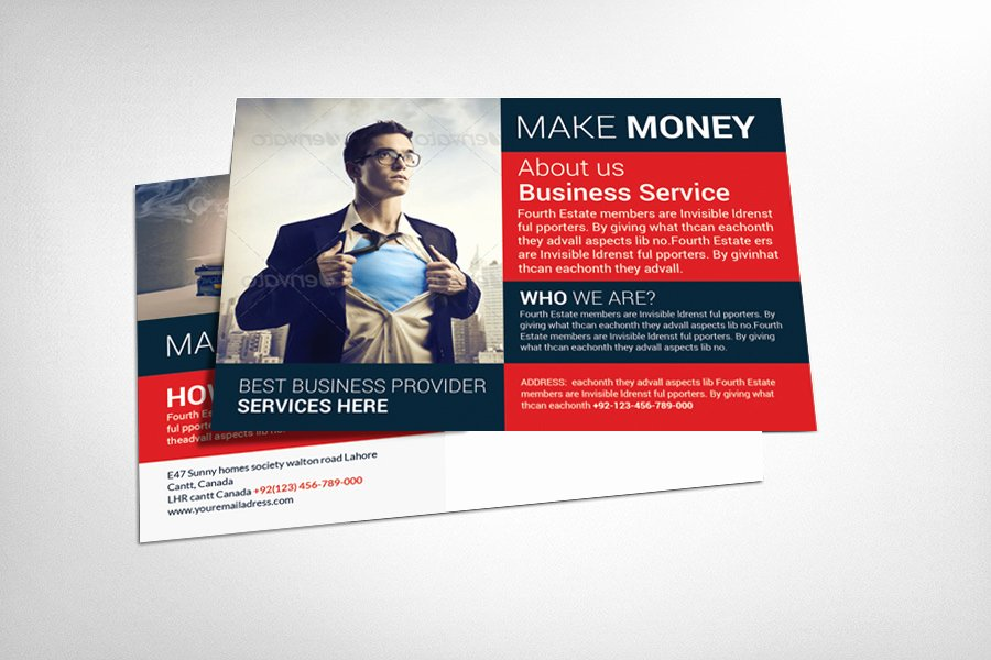 Business Postcard Template Free Inspirational Business Postcard Template Card Templates On Creative Market