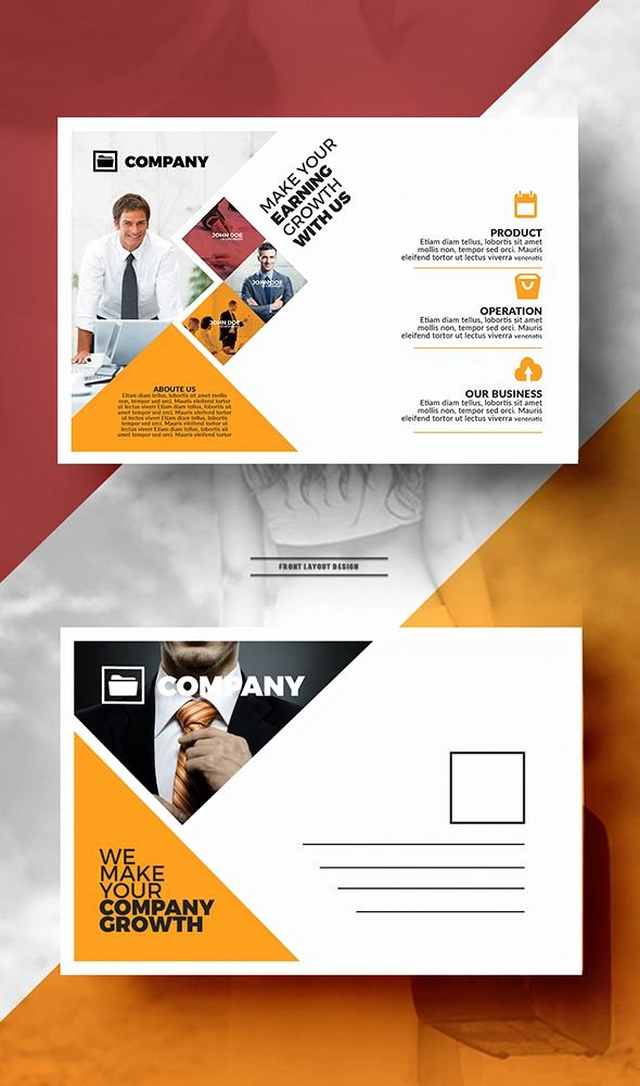 Business Postcard Template Free Unique 25 Best Ideas About Business Postcards On Pinterest