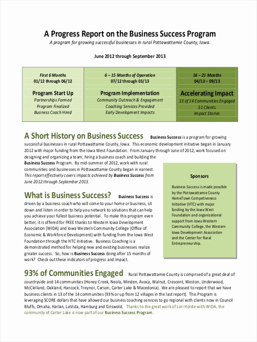 Business Progress Report Template Best Of 15 Business Report Examples Pdf Word Pages
