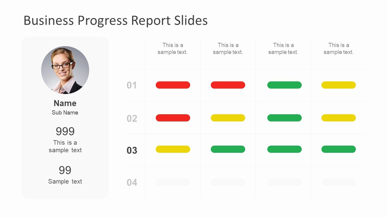 Business Progress Report Template Elegant Business Progress Report Slides for Powerpoint Slidemodel
