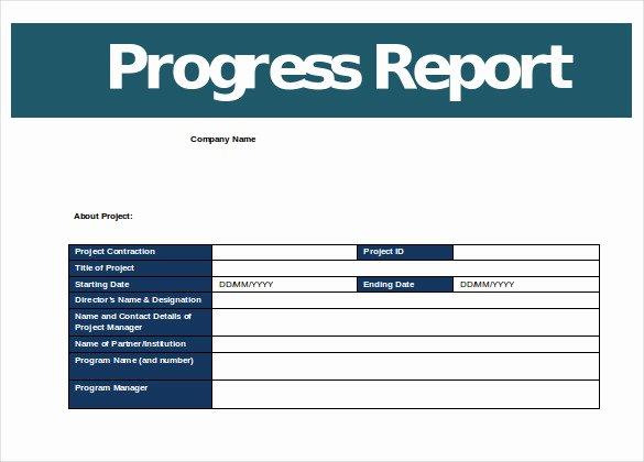Business Progress Report Template Inspirational Progress Report Templates 23 Free Word Pdf Google
