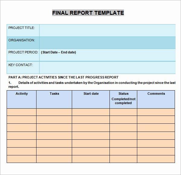Business Progress Report Template Luxury 12 Sample Progress Report Templates – Pdf Word Portable