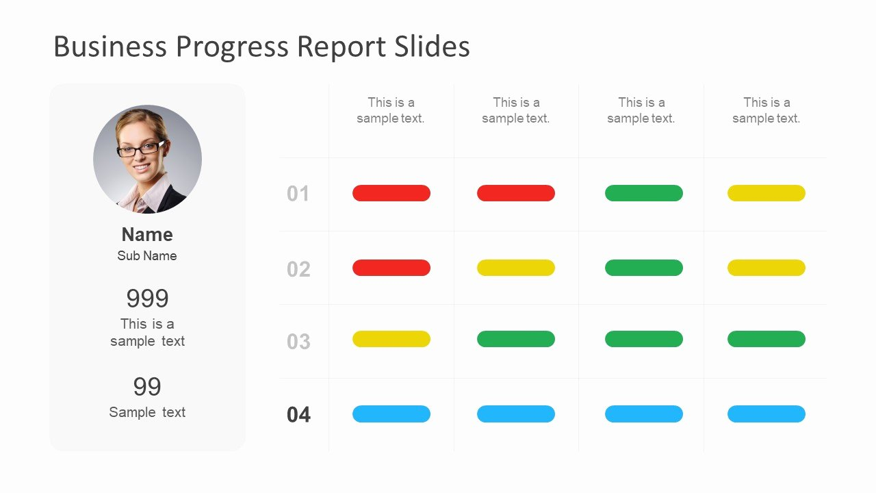 Business Progress Report Template Luxury Business Progress Report Slides for Powerpoint Slidemodel