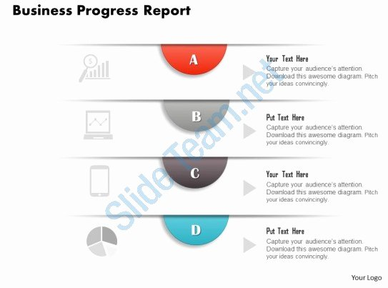 Business Progress Report Template New Style Layered Vertical 4 Piece Powerpoint